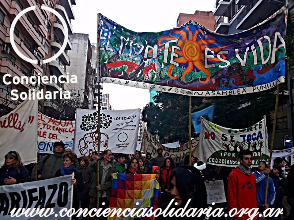#Córdoba marcha de Conciencia Solidaria en defensa del Bosque Nativo