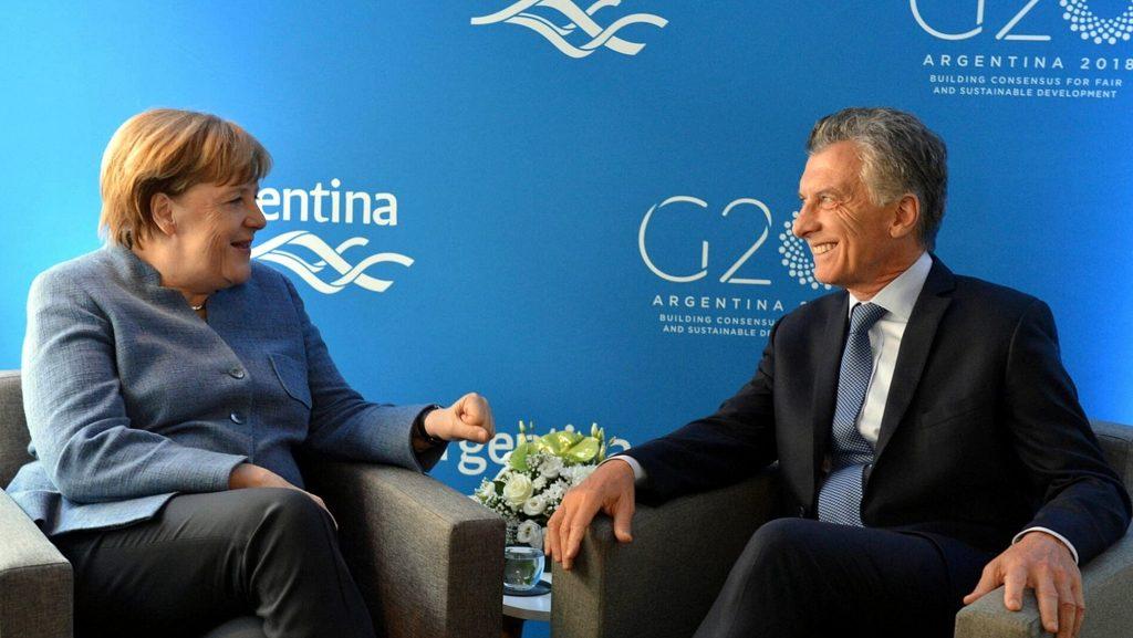 Macri se reunió con Angela Merkel en Suiza