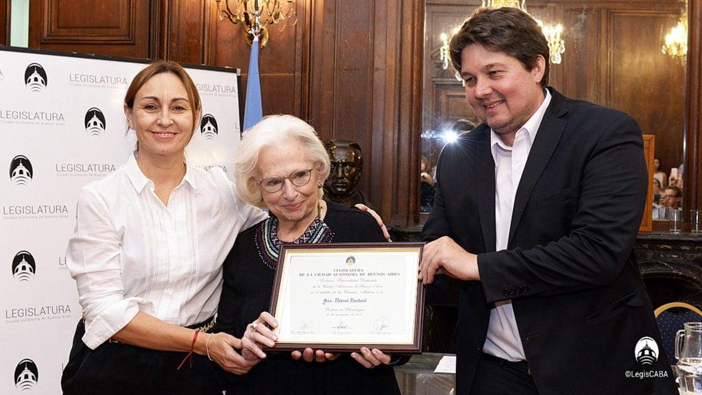 La odontóloga Bordoni, fue declarada personalidad destacada de las Ciencias Médicas