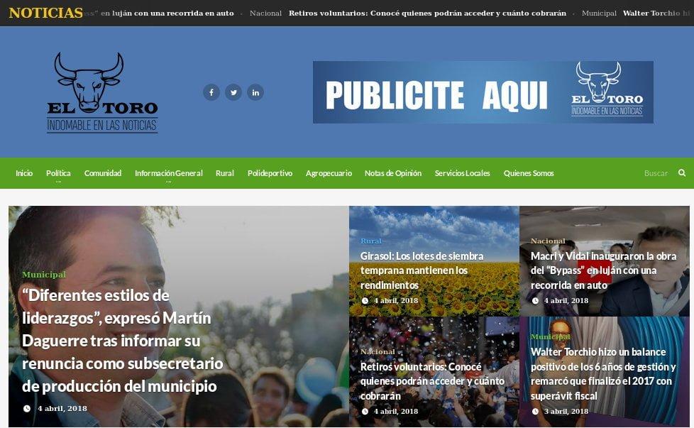 Nace @portaleltoro un nuevo medio digital en #CarlosCasares