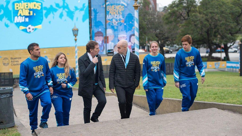 """Rodríguez Larreta lanzó la propuesta Buenos Aires Mundial: """"Se van a dar todos los partidos en forma libre y gratuita"""""""
