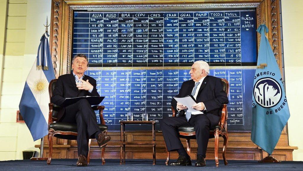 Macri visitó la Bolsa en su 164° Aniversario